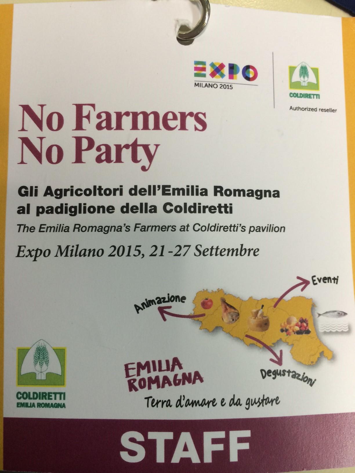 NO FARMERS, NO PARTY. FUNGO BIO ALL'EXPO 2015